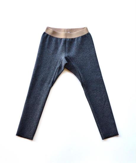 【 MOUN TEN. 2019AW 】rib leggings   / charcoal / 95 - 140