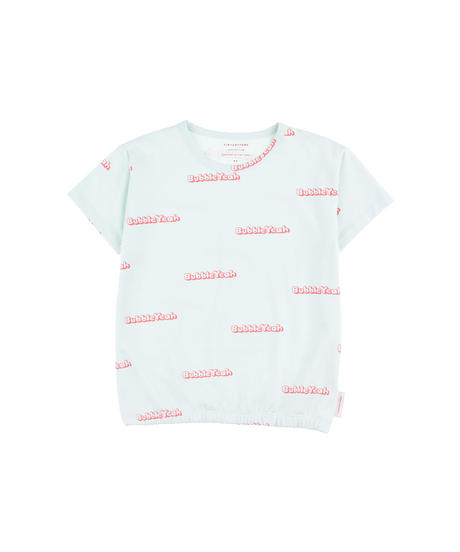 【 tiny cottons 2019SS 】SS19-021 'BUBBLE YEAH' SS TEE / light mint/rose