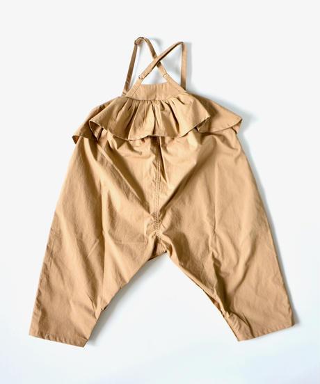 【 folk made 2019AW 】baby salopette / cinnamon beige