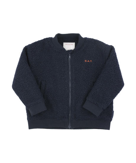 "【 tiny cottons 2018AW 】 AW18-236 ""day"" boucle bomber jacket / navy"