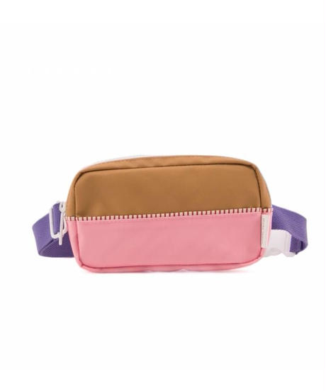 【 Sticky Lemon 】 FANNY PACK COLOUR BLOCKING / PEONY PINK