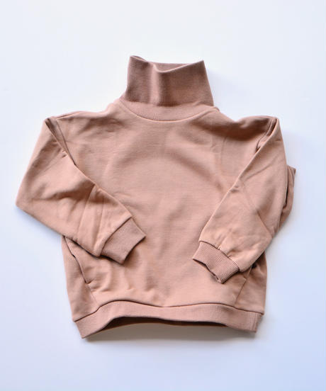 【 MOUN TEN. 2019AW 】sweat highneck    / beige / 150 - 160