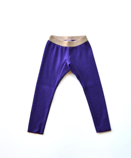【 MOUN TEN. 2019AW 】rib leggings   / purple  / 150 - 160