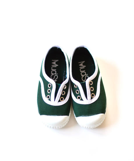 【 La Cadena アーカイブ 】 INGLES ELASTICO P  - White Trim  / BOTTLE GREEN / 23〜24.5cm
