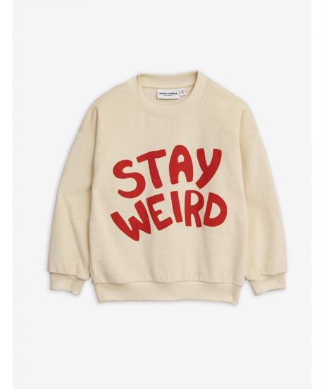 【 mini rodini 2019AW 】19720165  Stay weird sp terry sweatshirt / Offwhite