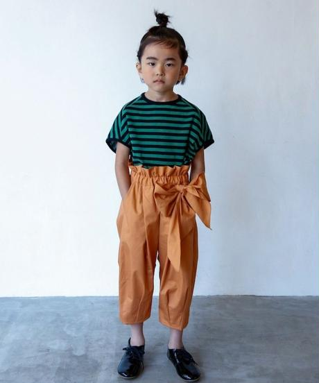 【 folk made 2020SS 】#12 pants with ribbon / brick