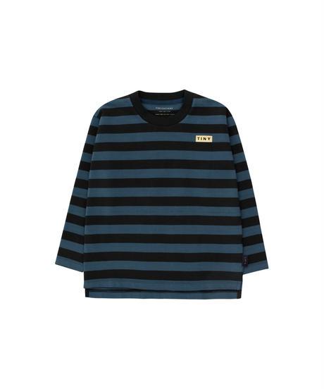 【 tiny cottons 2019SS 】AW19-057 STRIPES LS TEE / black/true navy