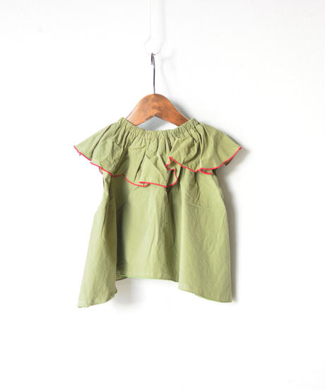 【 folk made 2020SS 】#22 frida-pullover / khaki green