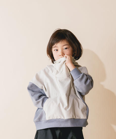 【 nunuforme 2019AW 】nf12-965-503 ミックスパーカー / Ivory