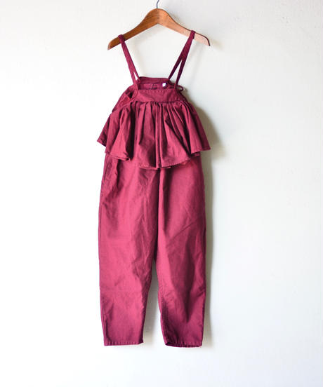 【 folk made 2019AW 】salopette / bordeaux / size LL(140-155cm)
