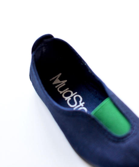 【 La Cadena 2019SS 】 GIMNASIA - Panel Slip On / NAVY x GREEN / 19〜21cm