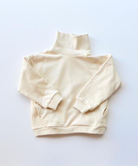 【 MOUN TEN. 2019AW 】sweat highneck    / ecru / 95 - 140
