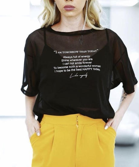 Sheer Message T-shirt