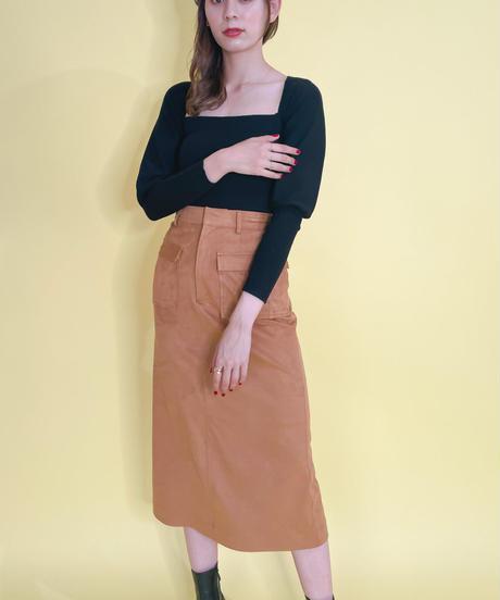 フロントポケットストレートスカート