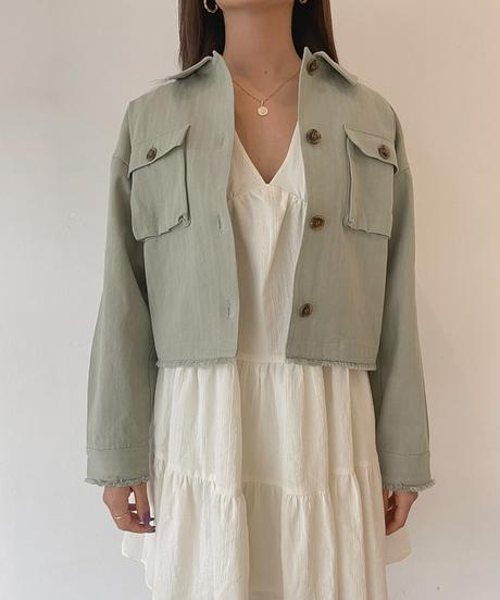 バックロゴプリントジャケット