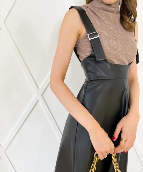 【大人気アイテム】フェイクレザースカート