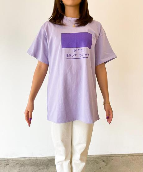 【すぐにお届け】SITE SHUT DOWN シャイニープリントTシャツ