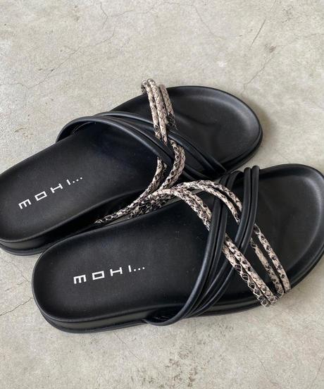 mohi(モヒ)コードサンダル SNAKE/BLK
