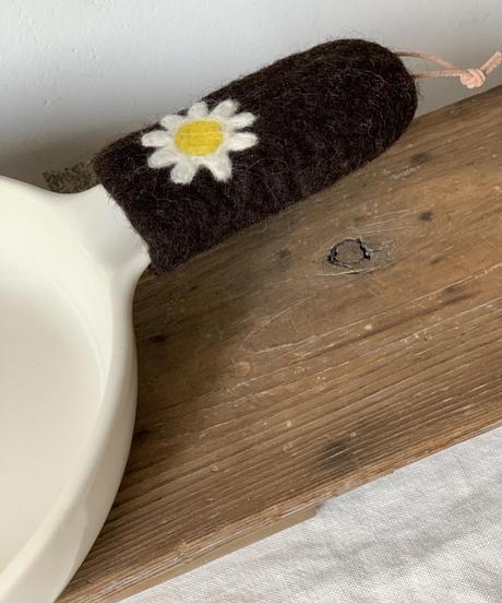 陶器のスキレット&羊毛フェルトスキレットカバーセット