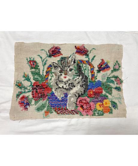 猫のクロスステッチ刺繍
