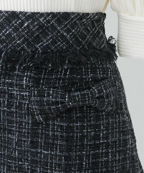 リボンツイードミニスカート