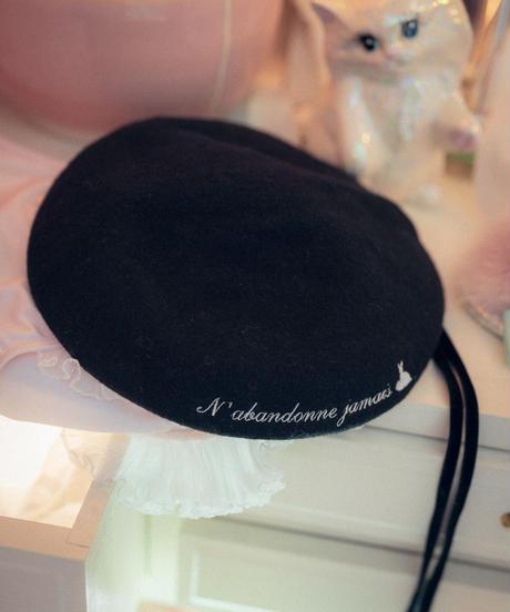 ワンポイントベレー帽