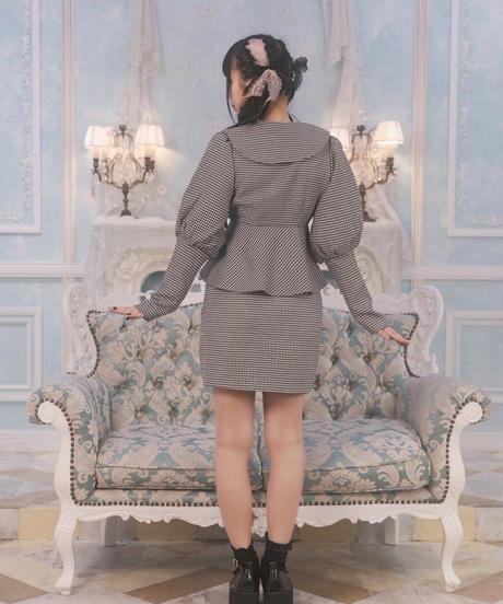 千鳥柄ミニスカート【セットアップ対応】