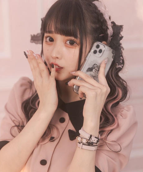 いたずら天使iPhoneケース(グリッター)