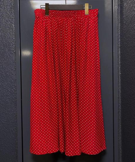 ヴィンテージ  ピンドットスカート