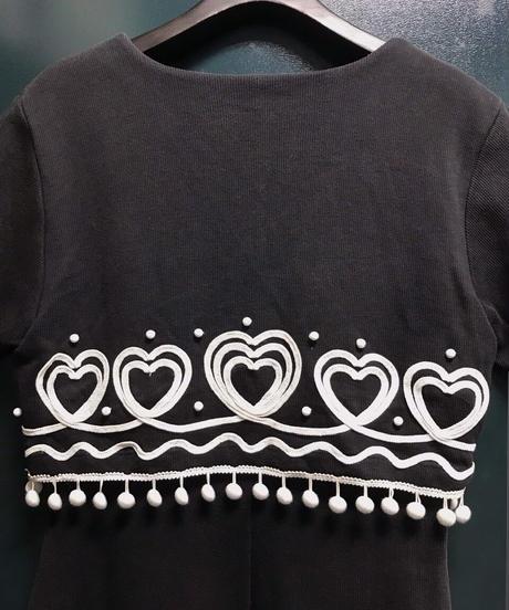 1980年代 刺繍ワンピース