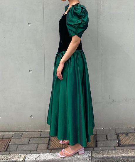 ヴィンテージ タフタドレス
