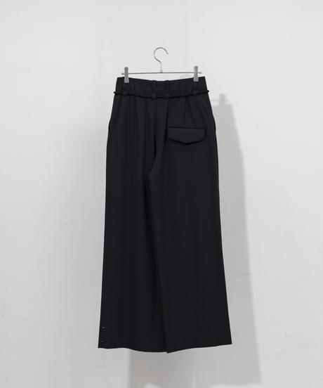 ETHOSENS - Squeeze slacks A [ BLACK ]