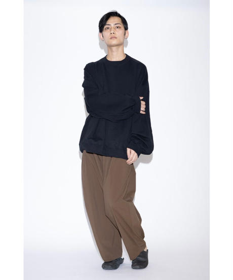 my beautiful landlet - TECHNO WIDE EASY PANTS [ BR ]