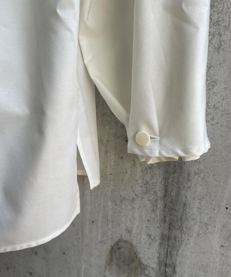 VUy - standcolor shirt [ WHITE ]