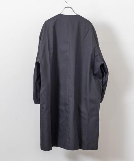 my beautiful landlet -  HIGH DENSITY GABA REVERSIBLE COAT [ BLACK ]