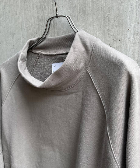 VOAAOV - PILE SHAPE KNITTED SWEAT (HI-NECK) [ GRAY ]