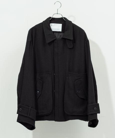 VOAAOV - Soft Wool Twill Blouson [ BLACK ]
