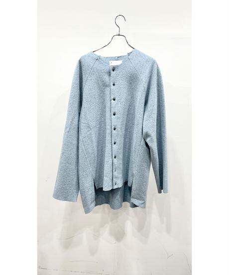 VOAAOV - Wool Ring Jersey Cardigan [ BLUE ]