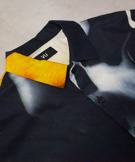[ 感覚ピエロ × macromauro × VUy ] original classic shirt [ PAINT BLACK ]