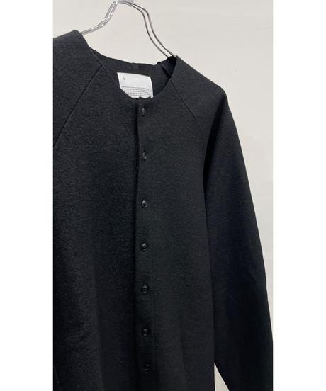 VOAAOV - Wool Ring Jersey Cardigan [ BLACK ]