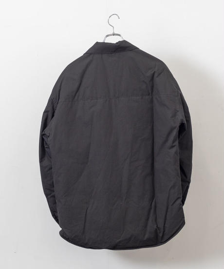 VOAAOV - Organic Cotton Broad Down shirt [ BLACK ]