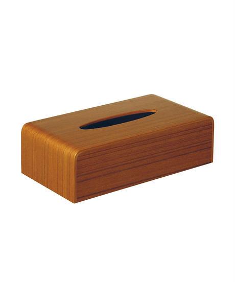 TISSUE BOX COVER teak grain