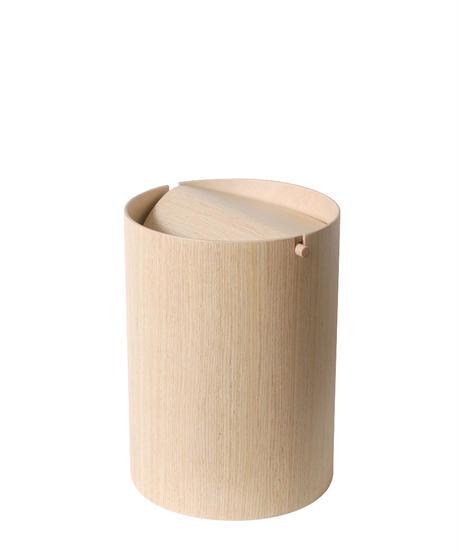 BASKET flap lid / whiteoak grain [M]