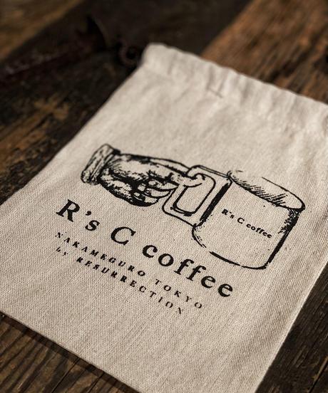 R's C coffee Drawstring bag (LOGO)