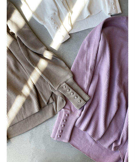 cuffs button rib tops(lilac)