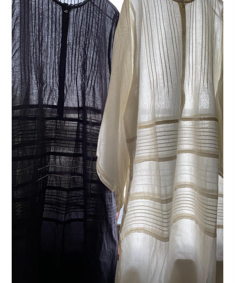 pintuck shirt onepiece(écru)