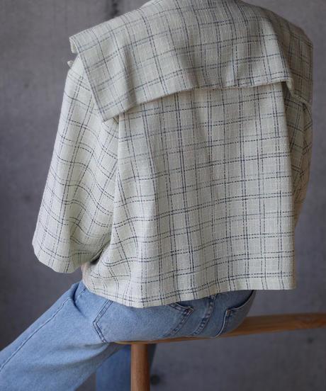 (select)セーラーカラーツイードジャケット