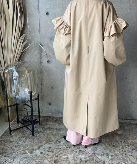 (select)frill trench coat