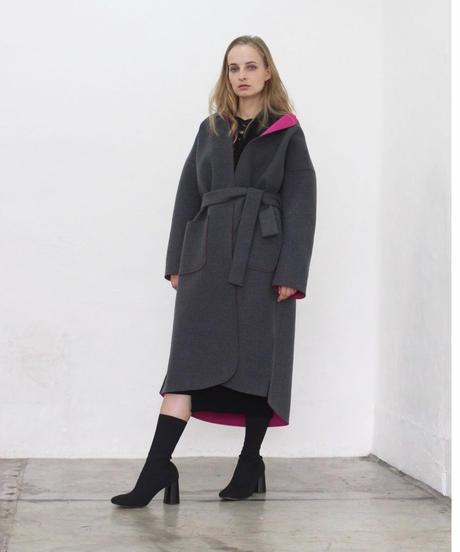先行予約 (original) neo coat(チャコール×ピンク)