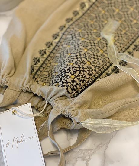 (original)ビーズ刺繍エコBAG